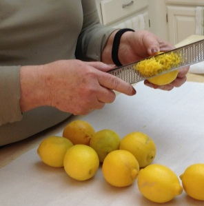 cropped zesting lemons
